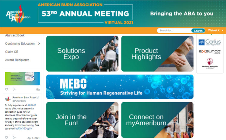 The 53rd ABA Online Meeting Was Held for Academic Exchange in Burn Treatment