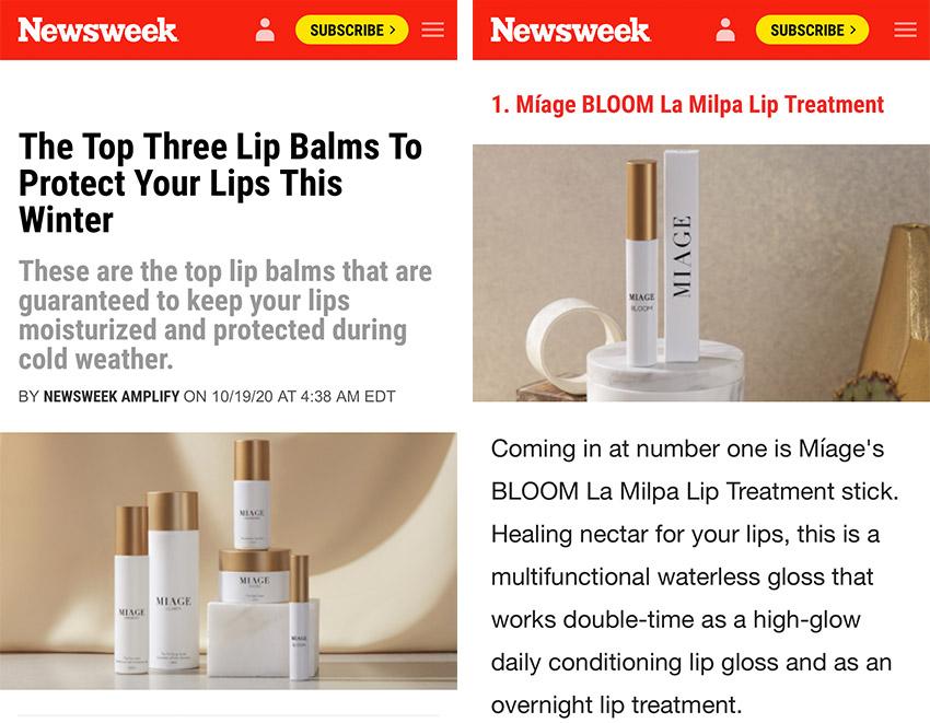 betway必威官方网站新品MIAGE BLOOM 登上美国《新闻周刊》